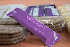 Bar of vegan meal Stock Images