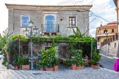 Bar Vitelli in Savoca. Forza d'Agro, Italy Stock Photos