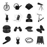 Bar, voedsel, partij, Dacha en ander Webpictogram in zwarte stijl vector illustratie