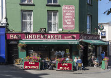 Bar at Wexford town. 'Bar and Undertaker' in Wexford town, Ireland Royalty Free Stock Photos