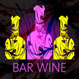 Bar wine and tasting card Royalty Free Stock Photo