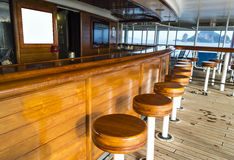 Bar wooden chairs Stock Image