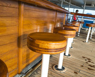 Bar wooden chairs. For entertainment Royalty Free Stock Image