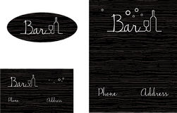 Bar Wooden looking  Logo, Business Card  Stock Photography