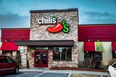 Bar y grill de Chilis Imagen de archivo