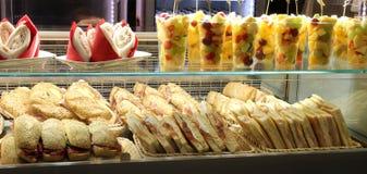 Bar z udziałami kanapki dla sprzedaży Zdjęcie Stock