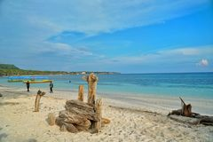 Bara海滩, Bulukumba,印度尼西亚 免版税图库摄影