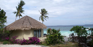 Bara Beach bungalow Bira Sulawesi Stock Images
