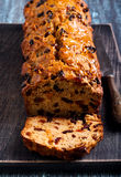 Bara brith traditional Welsh fruit teabread Stock Photo