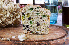 Bara Brith, Welsh bread with yeast. Welsh sweet bread, Bara Brith, made using yeast Stock Photo