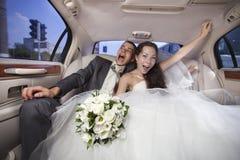 Bara gifta unga par arkivfoton