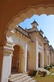 Bara Imam do palácio de Chowmahalla no pátio do norte imagens de stock