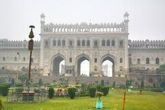 Bara Imambara är ett imambarakomplex i Lucknow, Indien arkivbild