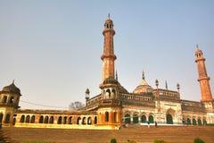 Bara Imambara är ett imambarakomplex i Lucknow, Indien arkivfoto
