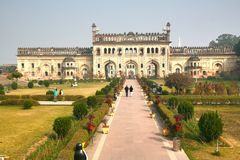 Bara Imambara is een imambara complex in Lucknow, India Stock Afbeelding
