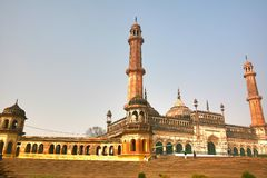 Bara Imambara is een imambara complex in Lucknow, India Stock Foto