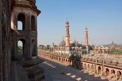 Bara Imambara komplex i Lucknow, Indien Arkivfoto