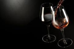 bara mött wine Royaltyfri Foto