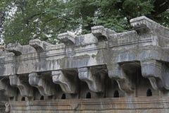 Bara Mota-chi Vihir, Historisch goed bij Lidmaatdorp, Satara, Maharashtra, India stock foto's