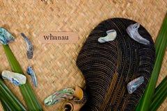Bara Nya Zeeland - themed objekt för maori - och abalone beskjuter intelligens Royaltyfri Bild
