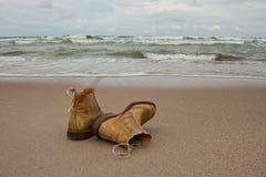 Bara på stranden Arkivbild