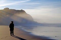 Bara på stranden Fotografering för Bildbyråer
