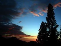 bara solnedgång Royaltyfri Foto