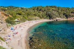 Barabarca beach near Capoliveri, Elba Island, Tuscany, Italy. Elba is a Mediterranean island in Tuscany, Italy, 10 kilometres 6.2 mi from the coastal town of stock images