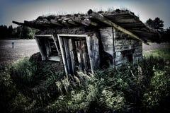 Baracca con il tetto della piota Fotografia Stock