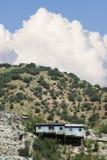 Baracca del minatore con la nube Immagini Stock