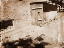 Baracca di legno fotografie stock libere da diritti