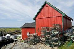 Baracca di pesca fotografia stock