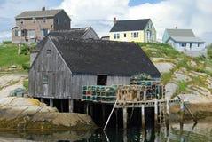Baracca di pesca Fotografia Stock Libera da Diritti