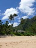 Baracca sulla spiaggia di Haena fotografia stock