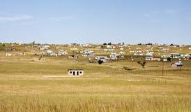 Baracche in ferro ondulato del Transkei Sudafrica Immagine Stock Libera da Diritti