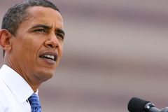 barack总统候选人的obama 免版税库存照片