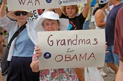 barack υποστηρικτής obama Στοκ Εικόνες