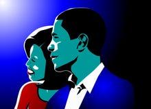 Barack et obama de Michelle Image libre de droits