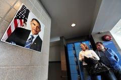 Barack Hussein Obama il quarantaquattresimo presidente degli Stati Uniti Immagini Stock Libere da Diritti