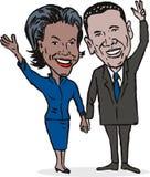 Barack and Michelle Obama. Illustration showing the first couple of USA, Barack and Michelle Obama stock illustration