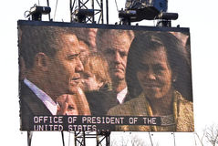Barack & Michelle Obama. Barack Obama takes the oath of office royalty free stock images
