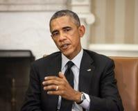 barack obama团结的总统状态 库存照片