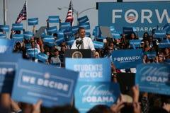 Barack Obama在拉斯维加斯 库存图片