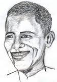 barack obama草图 免版税库存图片