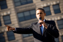 Barack Obama 11. Barack Obama campaigns in Rodney Square, Wilmington, Delaware Stock Photos