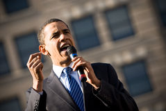 Barack Obama 14. Barack Obama campaigns in Rodney Square, Wilmington, Delaware Royalty Free Stock Images