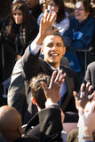 Barack Obama 15. Barack Obama waves to a crowd of thousands as he campaigns in Rodney Square, Wilmington, Delaware royalty free stock image