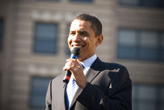 Barack Obama 18. Barack Obama smiles as he campaigns in Rodney Square, Wilmington, Delaware Stock Images