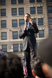 Barack Obama 4. Barack Obama campaigns at an outdoor rally, in Rodney Square, Wilmington, Delaware Stock Photos