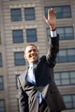 Barack Obama 5. Barack Obama waves to a crowd of thousands as he campaigns outside, in Rodney Square, Wilmington, Delaware royalty free stock image